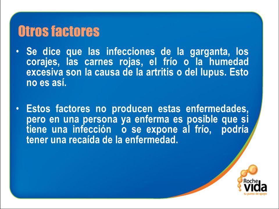 Otros factores Como consecuencia de que algunos de estos factores, particularmente la herencia, no los podemos modificar, no existe un tratamiento que cure estas enfermedades.