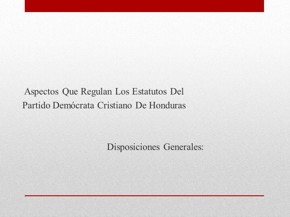 Democrata Cristiano de Honduras Demócrata Cristiano de