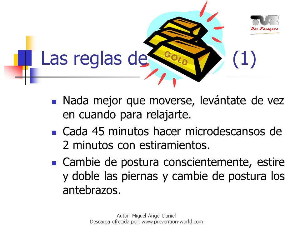 Autor: Miguel Ángel Daniel Descarga ofrecida por: www.prevention-world.com Las reglas de (1) Nada mejor que moverse, levántate de vez en cuando para r