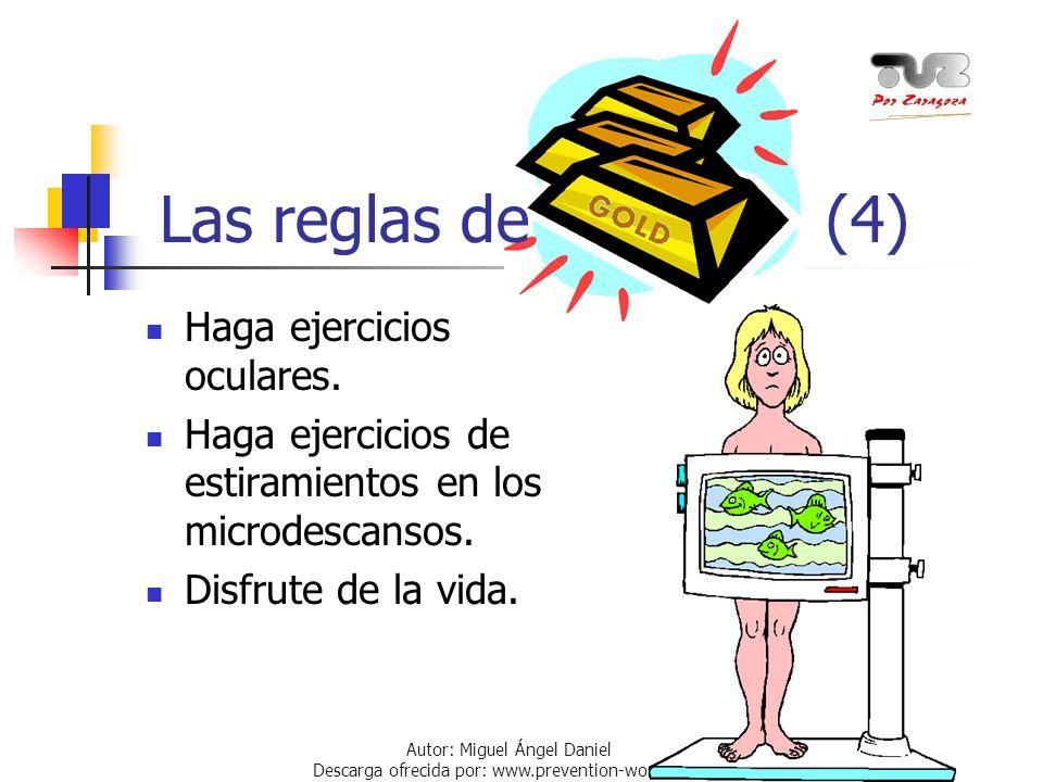 Autor: Miguel Ángel Daniel Descarga ofrecida por: www.prevention-world.com Haga ejercicios oculares. Haga ejercicios de estiramientos en los microdesc