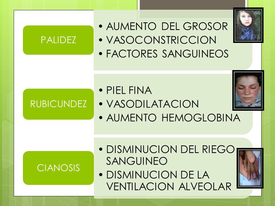 LESION HEPATICA ALTERACION DE PORCESOS ENZIMATICOS ICTERICIA CLOASMAS TATUAJES CIRROSIS HIPER- PIGMENTACION LEUCOPLACIAS CICATRICEZ LUPUS RAZA ALBINA HIPO- PIGMENTACION
