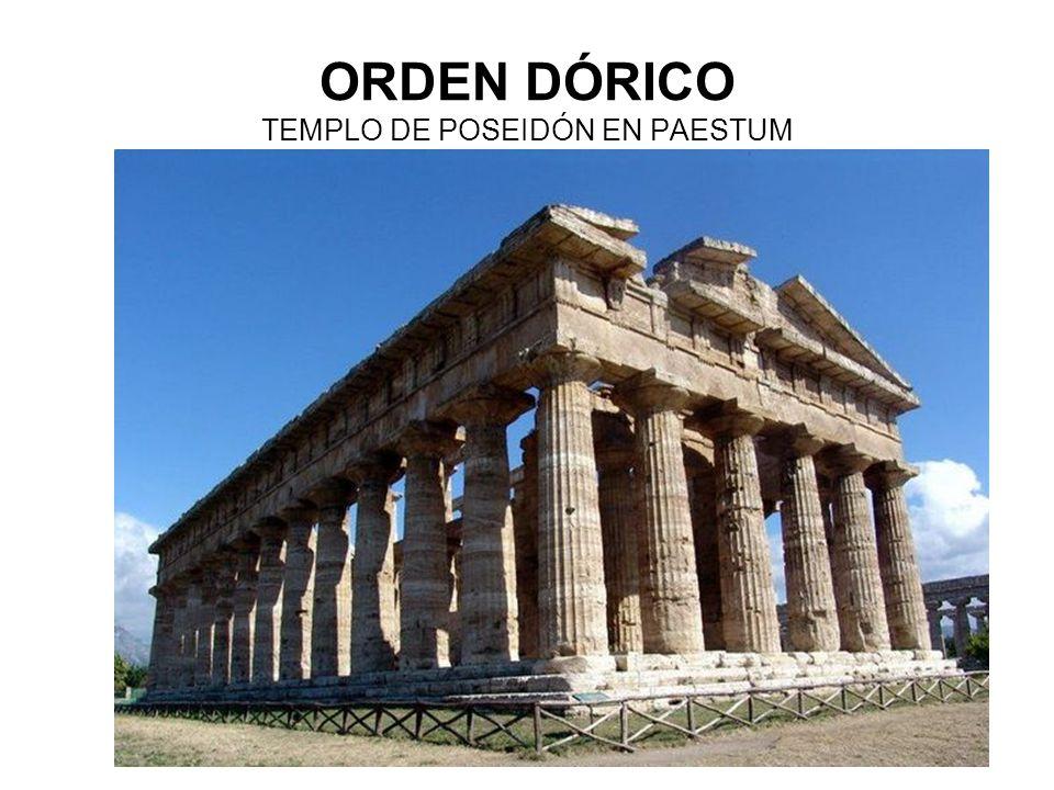 ORDEN DÓRICO TEMPLO DE POSEIDÓN EN PAESTUM