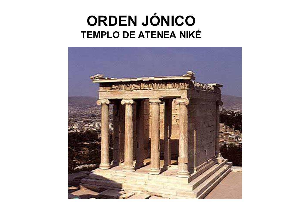 ORDEN JÓNICO TEMPLO DE ATENEA NIKÉ