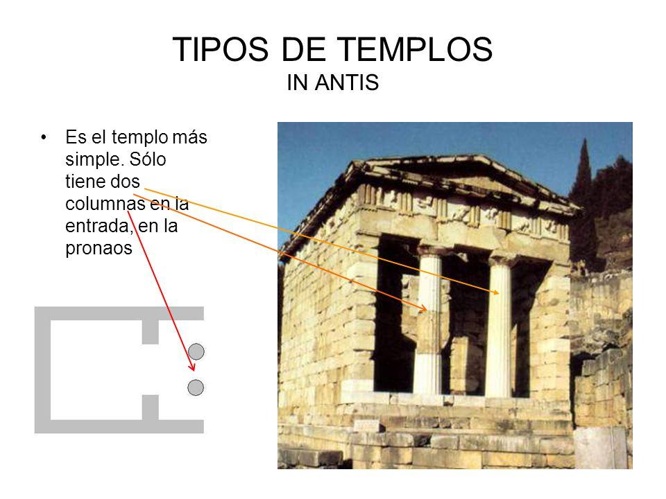 TIPOS DE TEMPLOS IN ANTIS Es el templo más simple.