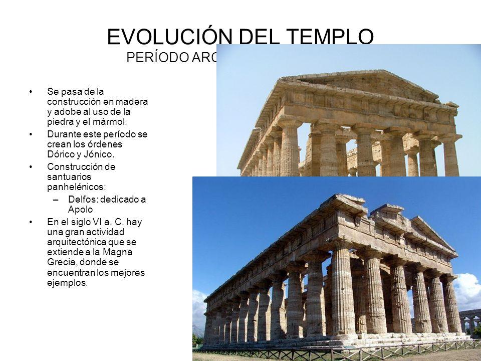 EVOLUCIÓN DEL TEMPLO PERÍODO ARCAICO ( S.VIII-VI a.