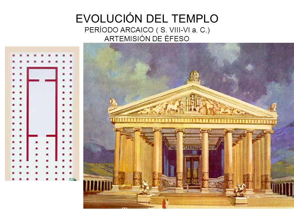 EVOLUCIÓN DEL TEMPLO PERÍODO ARCAICO ( S. VIII-VI a. C.) ARTEMISIÓN DE ÉFESO