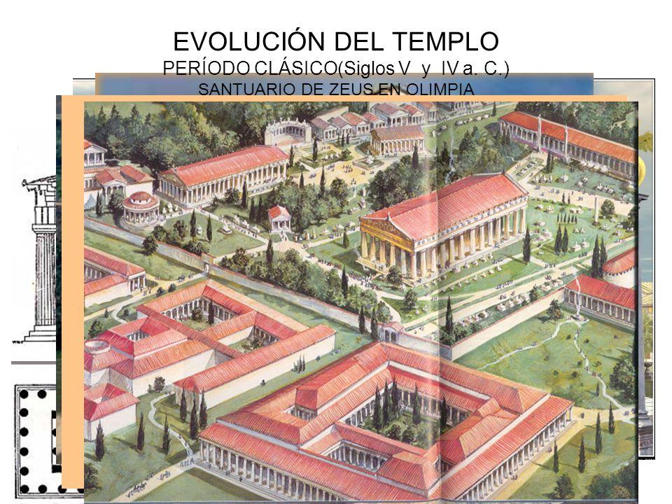 EVOLUCIÓN DEL TEMPLO PERÍODO CLÁSICO(Siglos V y IV a. C.) SANTUARIO DE ZEUS EN OLIMPIA
