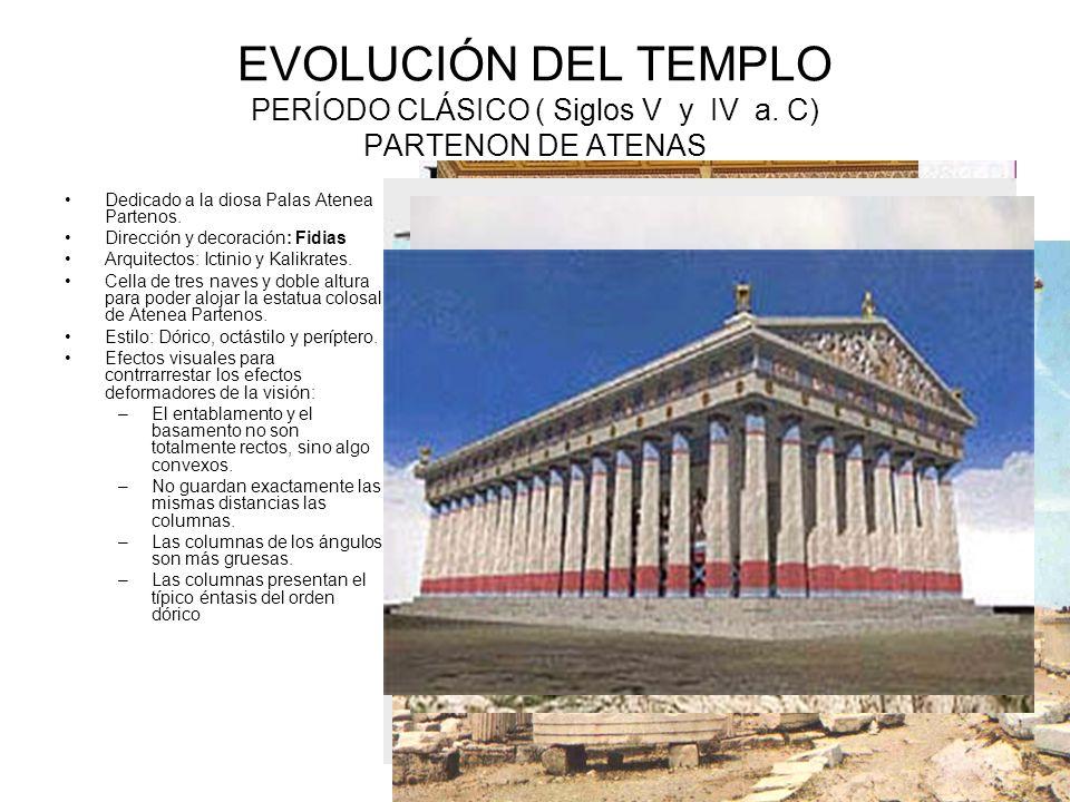 EVOLUCIÓN DEL TEMPLO PERÍODO CLÁSICO ( Siglos V y IV a.