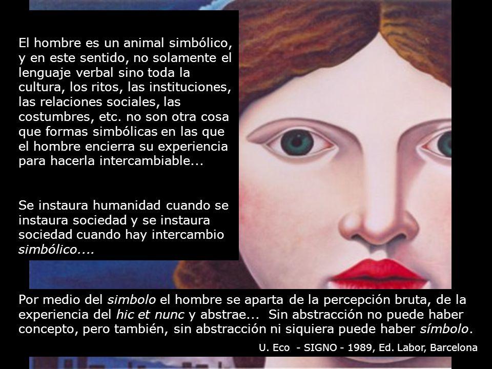 el hombre es un animal simbolico: