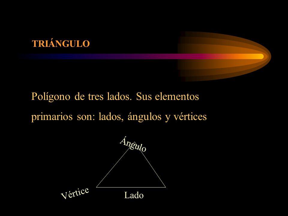 Polígono de tres lados.