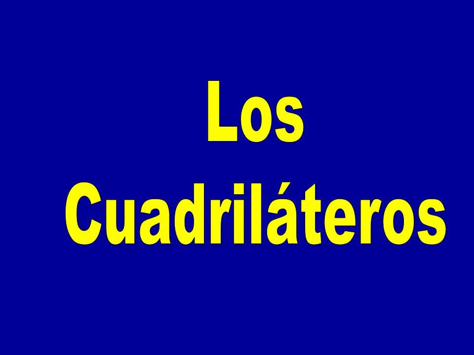 Cuadrilátero es la porción de plano limitada por una línea poligonal cerrada de cuatro segmentos.