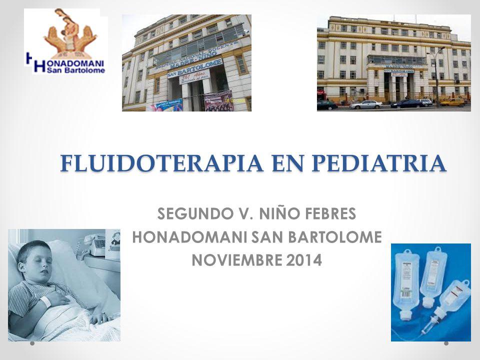 FLUIDOTERAPIA EN PEDIATRIA SEGUNDO V. NIÑO FEBRES HONADOMANI SAN BARTOLOME NOVIEMBRE 2014