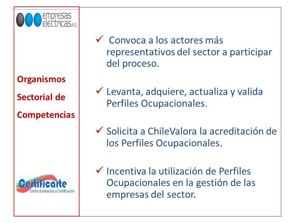 Organismos Sectorial de Competencias Convoca a los actores más representativos del sector a participar del proceso.