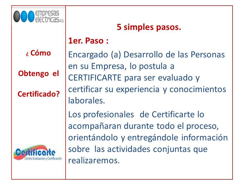 ¿ Cómo Obtengo el Certificado. 5 simples pasos. 1er.