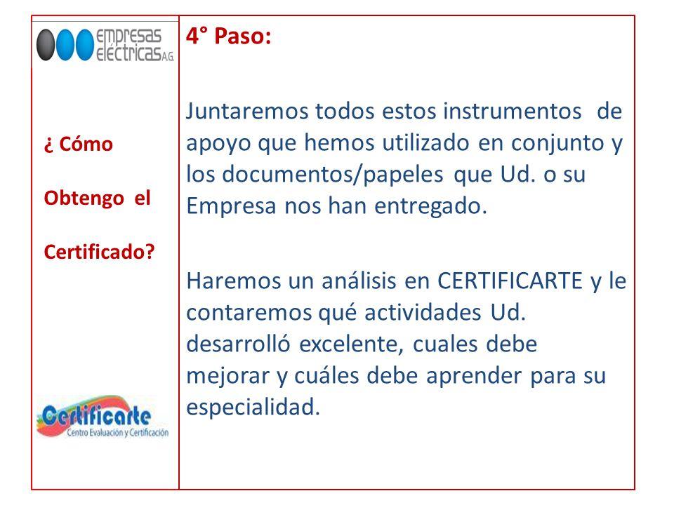 4° Paso: Juntaremos todos estos instrumentos de apoyo que hemos utilizado en conjunto y los documentos/papeles que Ud.