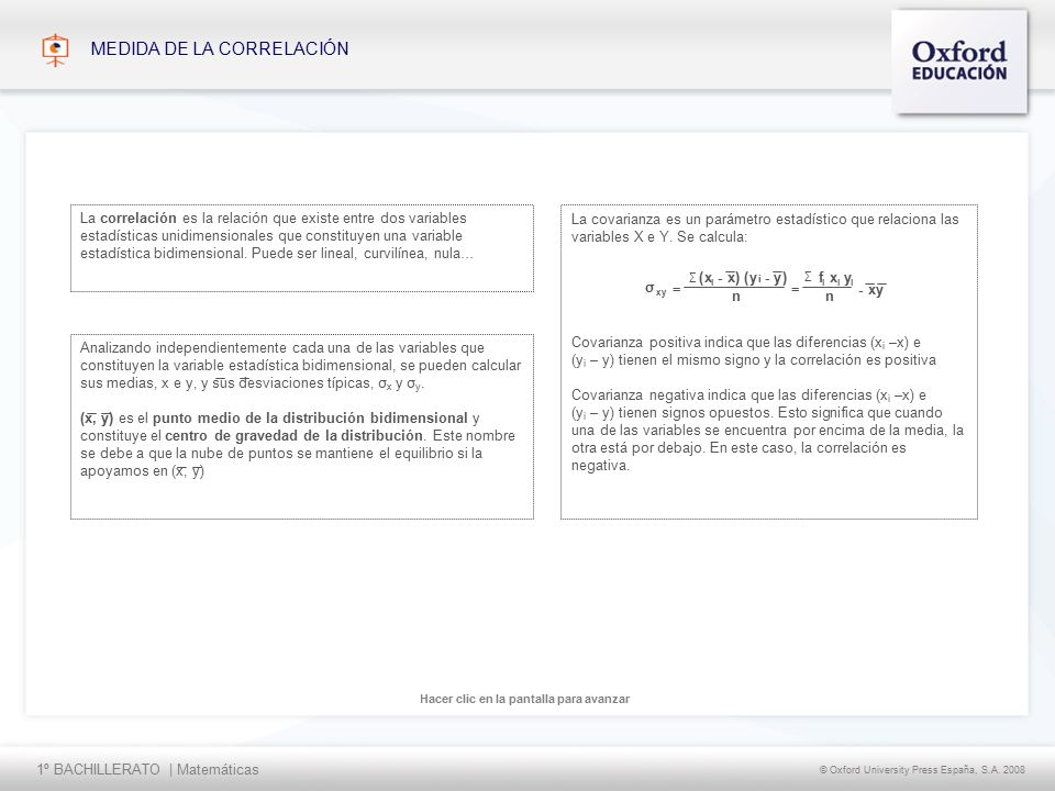 1º BACHILLERATO | Matemáticas © Oxford University Press España, S.A.