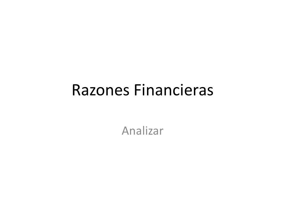 Razones Financieras Analizar