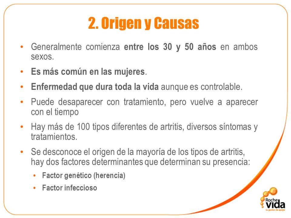 2.Origen y Causas Generalmente comienza entre los 30 y 50 años en ambos sexos.
