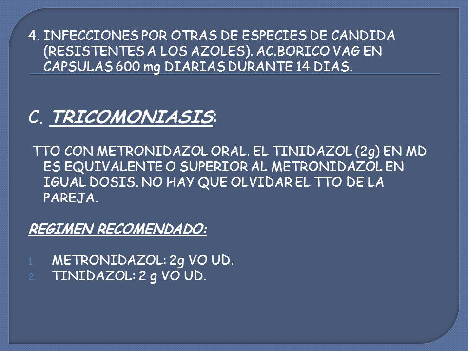 4.INFECCIONES POR OTRAS DE ESPECIES DE CANDIDA (RESISTENTES A LOS AZOLES).