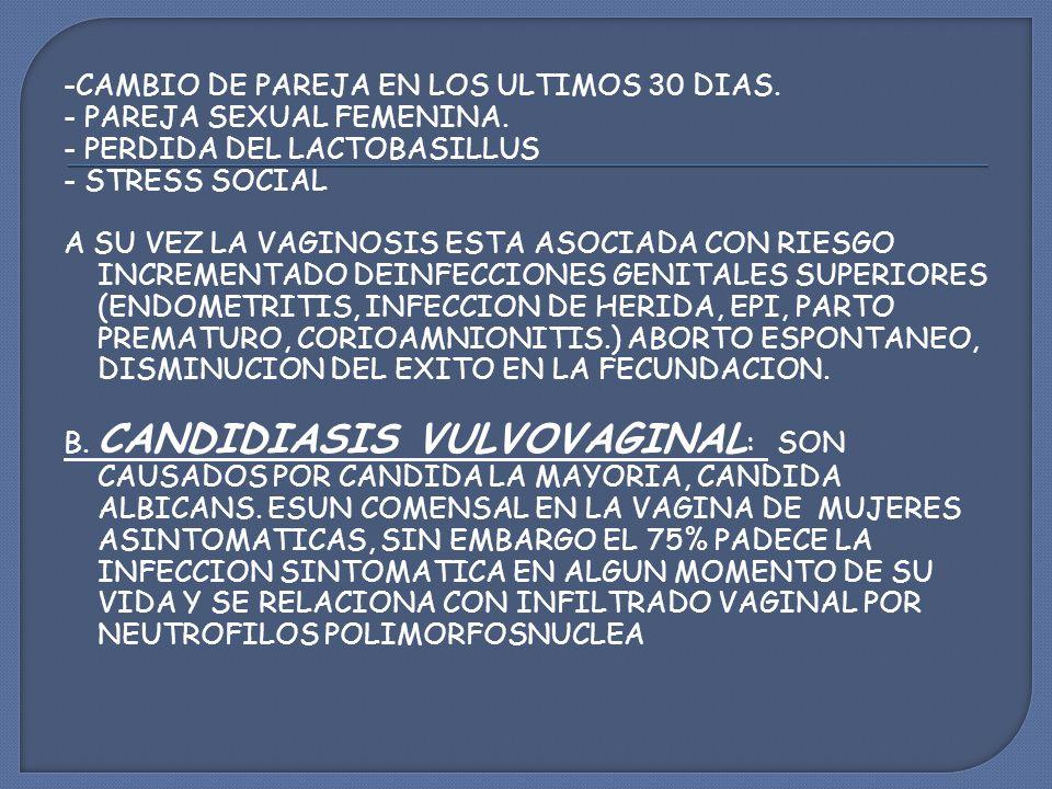 -CAMBIO DE PAREJA EN LOS ULTIMOS 30 DIAS.- PAREJA SEXUAL FEMENINA.