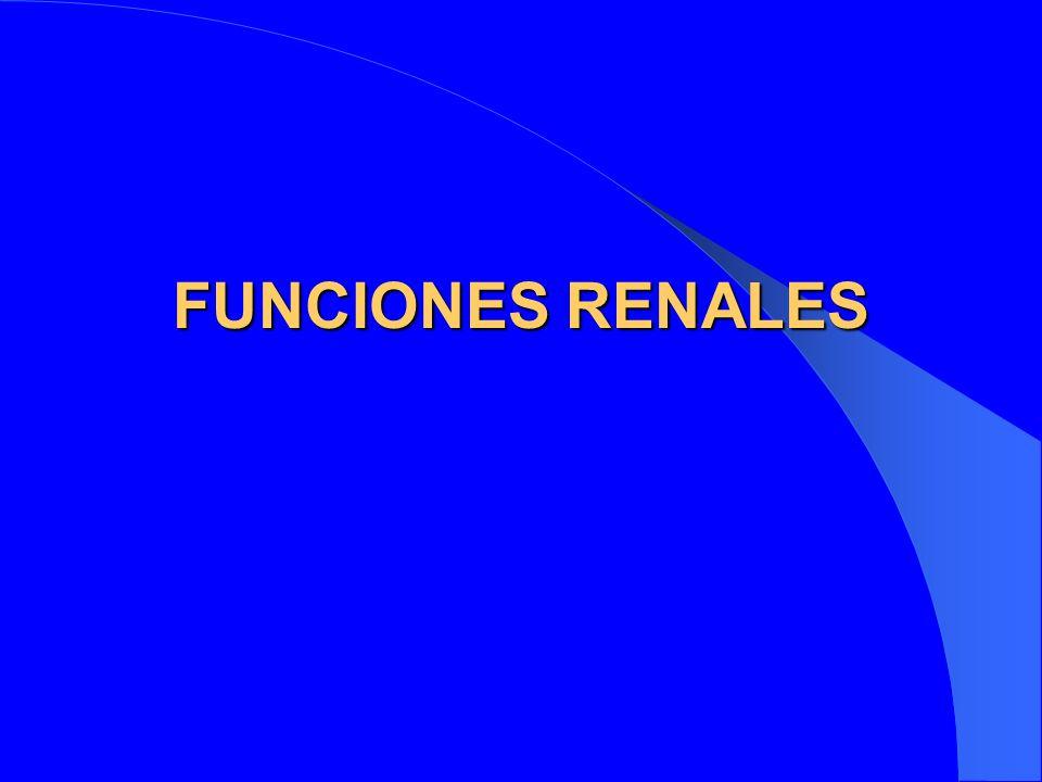 FUNCIONES RENALES