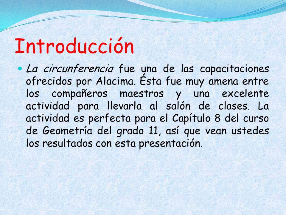 Ejercicios de práctica Determina la circunferencia de un círculo cuyo diámetro mide 9 pulgadas.
