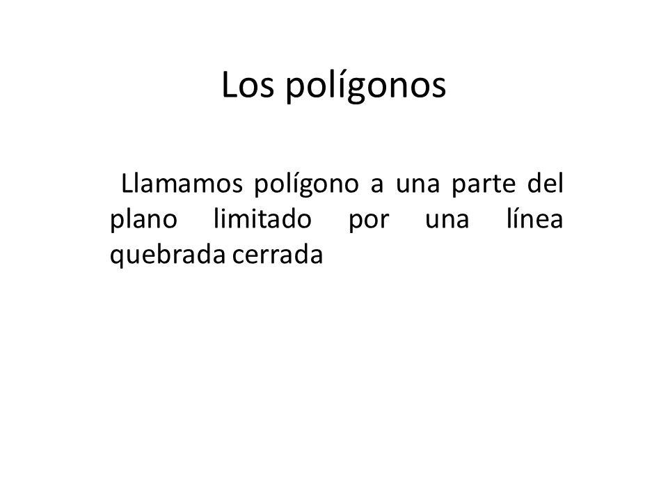 Los polígonos Llamamos polígono a una parte del plano limitado por una línea quebrada cerrada