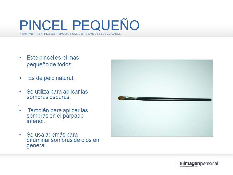 PINCEL PEQUEÑO HERRAMIENTAS / PINCELES Y BROCHAS CÓMO UTILIZARLOS Y SUS CUIDADOS Este pincel es el más pequeño de todos.