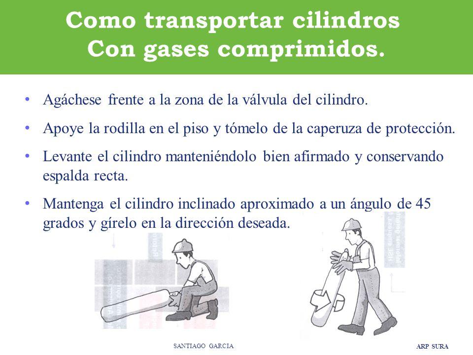 ARP SURA SANTIAGO GARCIA Como transportar cilindros Con gases comprimidos.
