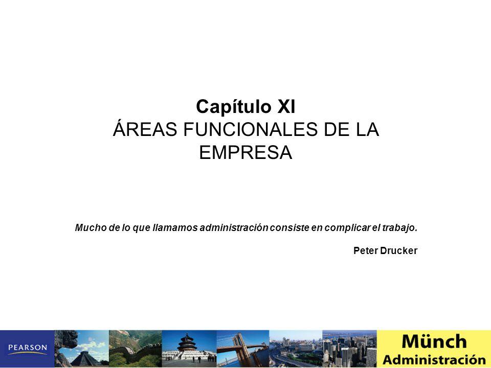 Capítulo XI ÁREAS FUNCIONALES DE LA EMPRESA Mucho de lo que llamamos administración consiste en complicar el trabajo.
