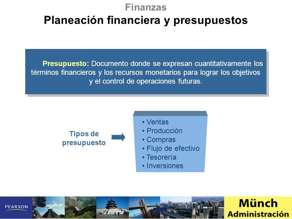 Presupuesto: Documento donde se expresan cuantitativamente los términos financieros y los recursos monetarios para lograr los objetivos y el control d