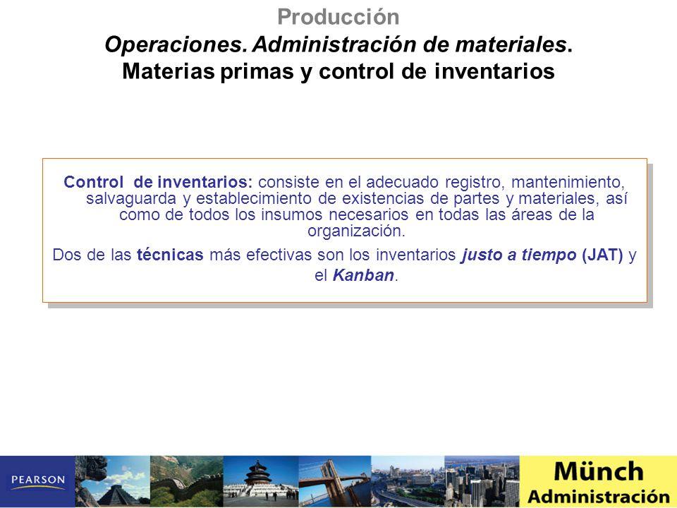 Control de inventarios: consiste en el adecuado registro, mantenimiento, salvaguarda y establecimiento de existencias de partes y materiales, así como