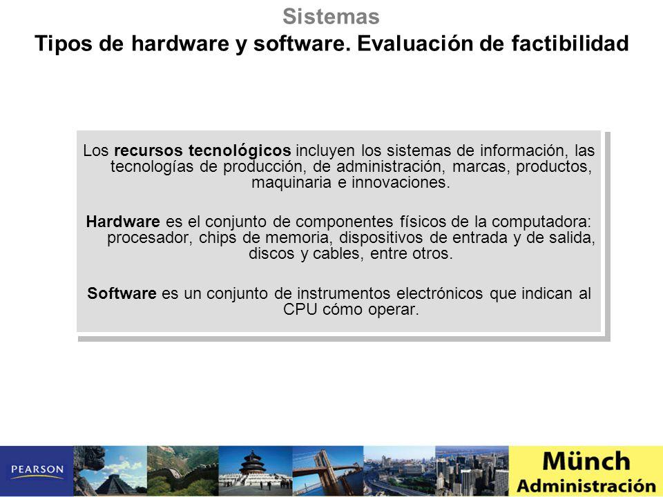 Los recursos tecnológicos incluyen los sistemas de información, las tecnologías de producción, de administración, marcas, productos, maquinaria e inno