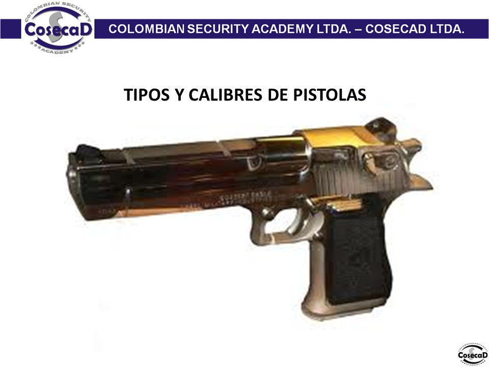 TIPOS Y CALIBRES DE PISTOLAS