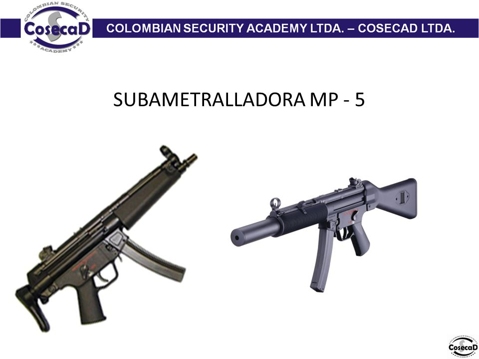 SUBAMETRALLADORA MP - 5
