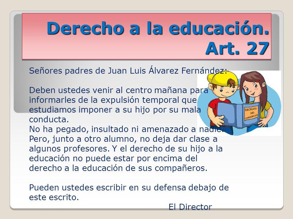 Derecho a la educación.Art.