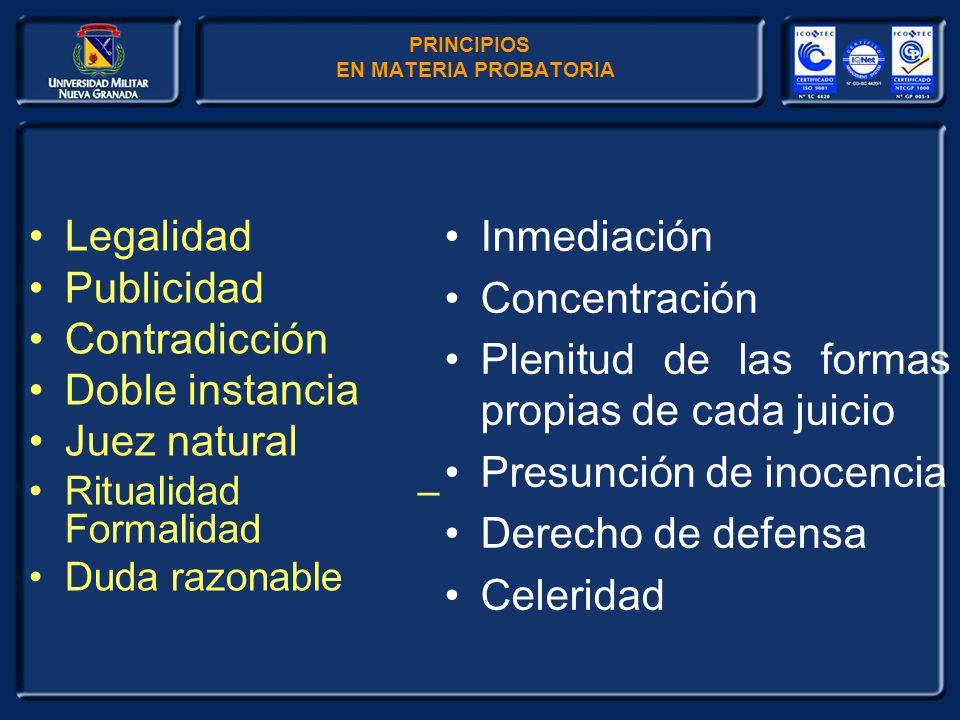 legalidad de la prueba en:
