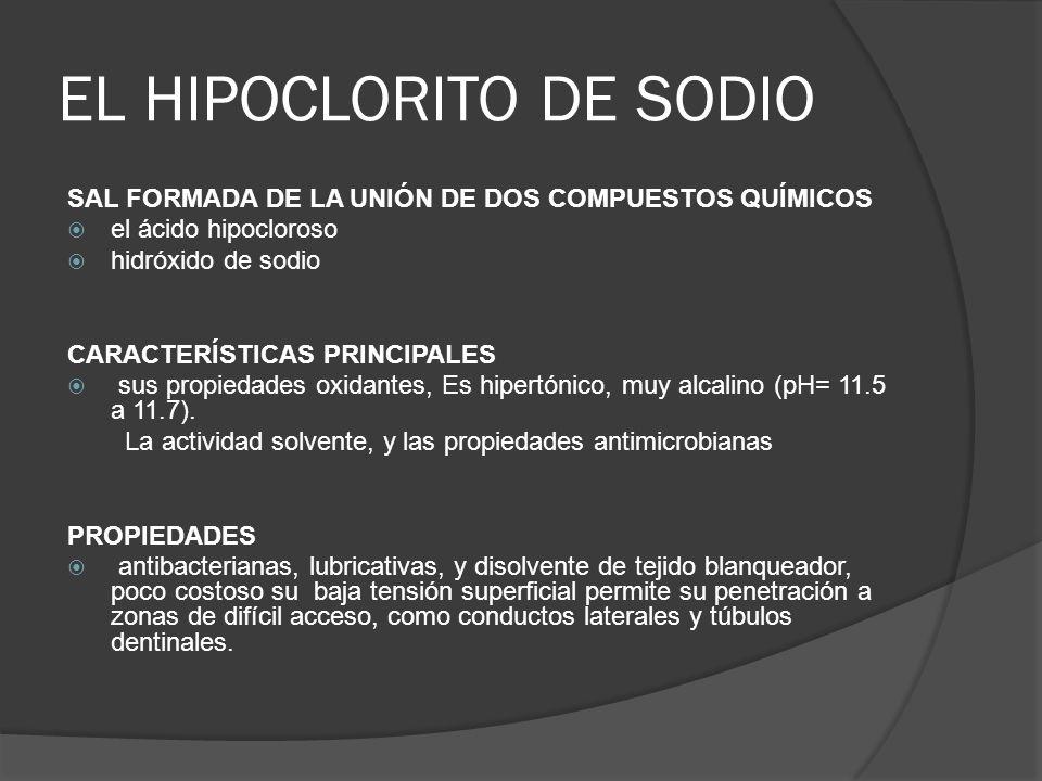 Hipoclorito de sodio ph