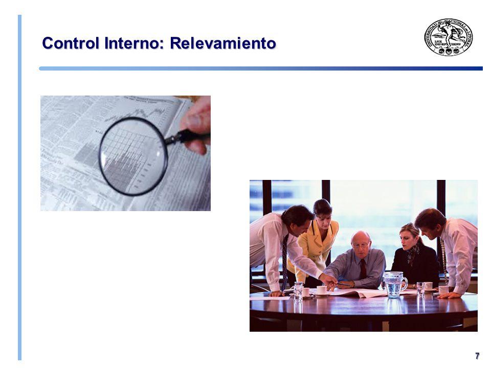 UNL - FCE - Cátedra Auditoría 2014 - CONTROL INTERNO: Diseño de las pruebas sobre los controles de la empresa Pruebas de control interno: efectividad Tipos de Proce dimie ntos Cuestionarios al personal dueño del proceso Inspección de la documentación clave Observación de las operaciones de la empresa Aplicar los controles y comparar los resultados con los esperados para detectar desvíos o errores Pruebas de los controles: Natural eza de la prueba Ref.