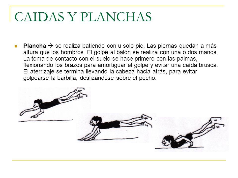 CAIDAS Y PLANCHAS Plancha  se realiza batiendo con u solo pie.