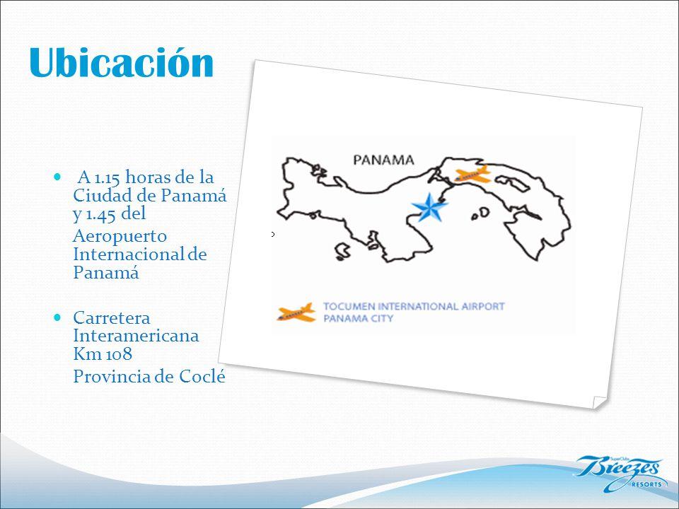 Ubicación A 1.15 horas de la Ciudad de Panamá y 1.45 del Aeropuerto Internacional de Panamá Carretera Interamericana Km 108 Provincia de Coclé