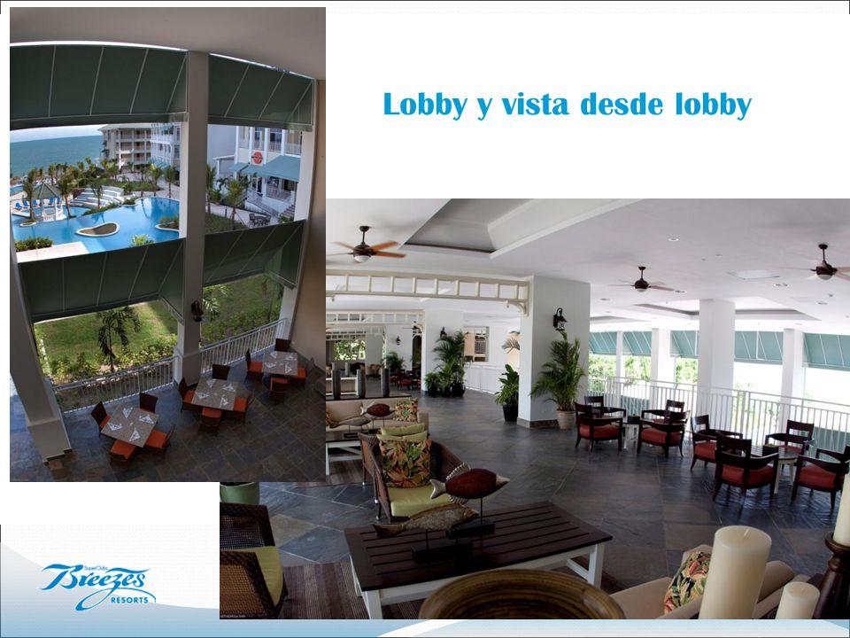 Lobby y vista desde lobby