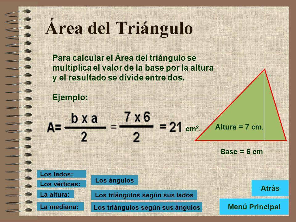 Los Triángulos según sus ángulos Los Triángulos según sus ángulos se clasifican en: Rectángulo: Cuando tiene un ángulo recto. Acutángulo: Cuando tiene