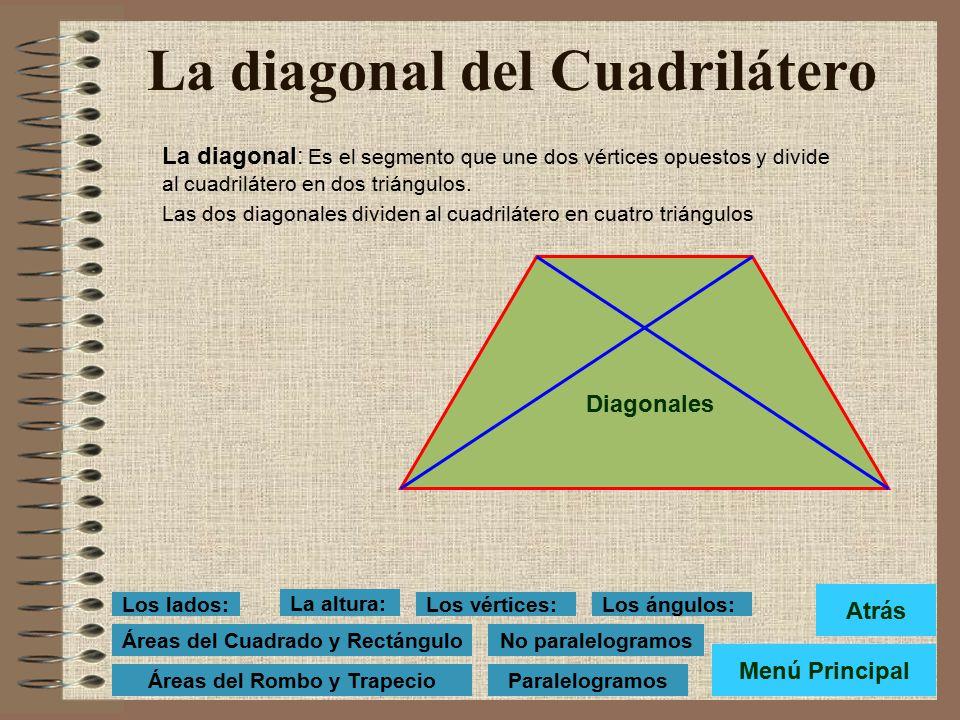 Los ángulos de los Cuadriláteros Cada dos lados contiguos de un cuadrilátero forman un ángulo. Todo cuadrilátero tiene cuatro ángulos. BAD, ADC, DCB y