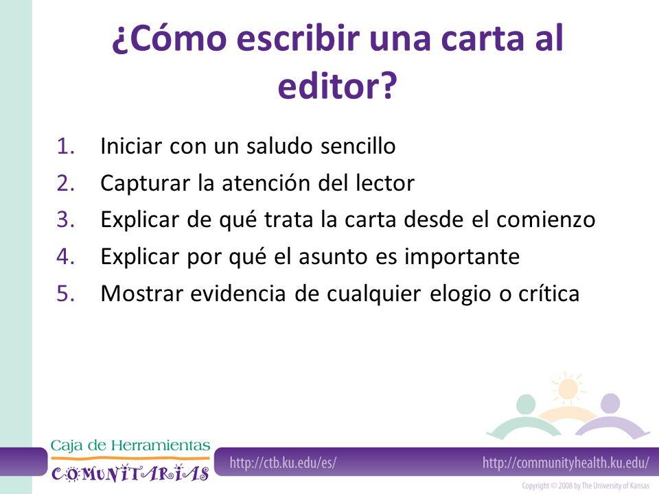¿Cómo escribir una carta al editor.