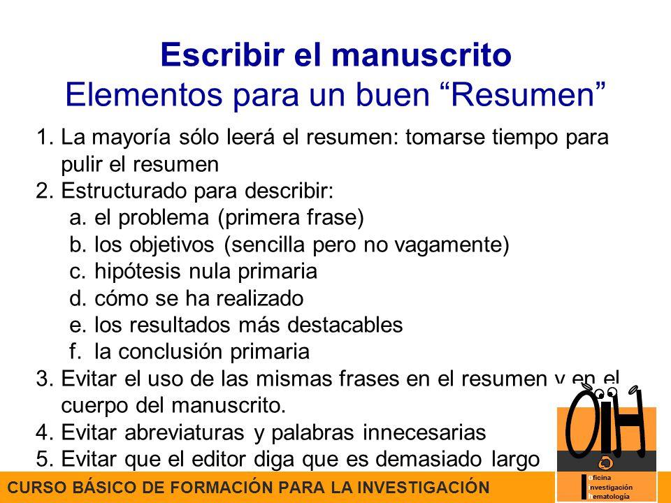 Sesión 6 CURSO BÁSICO DE FORMACIÓN PARA LA INVESTIGACIÓN Publicación ...
