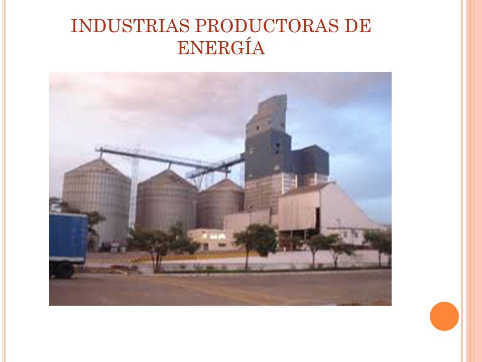 INDUSTRIAS PRODUCTORAS DE ENERGÍA