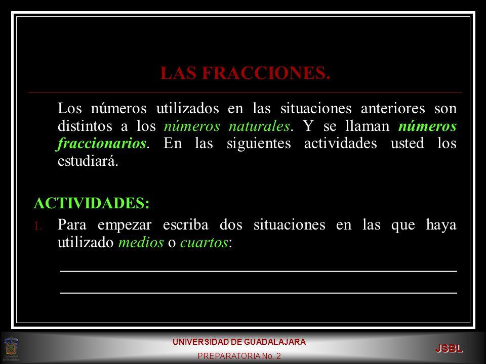 UNIVERSIDAD DE GUADALAJARA PREPARATORIA No.2 JSBL LAS FRACCIONES.