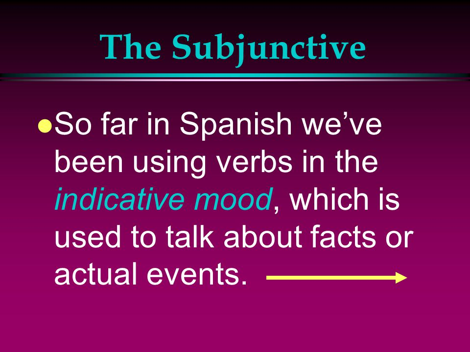 The Present Subjunctive Realidades 3 p 132