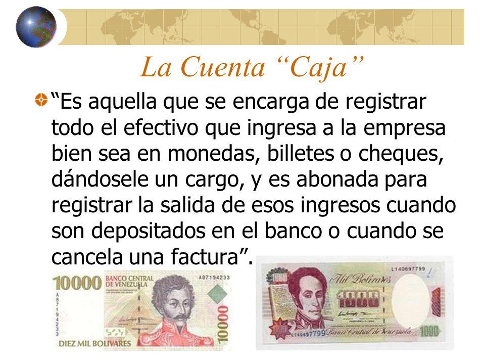 La Cuenta Banco El nombre de la cuenta Banco representa la institución en la cual tenemos nuestro dinero depositado y donde se encuentra disponible en el momento que lo necesitamos.